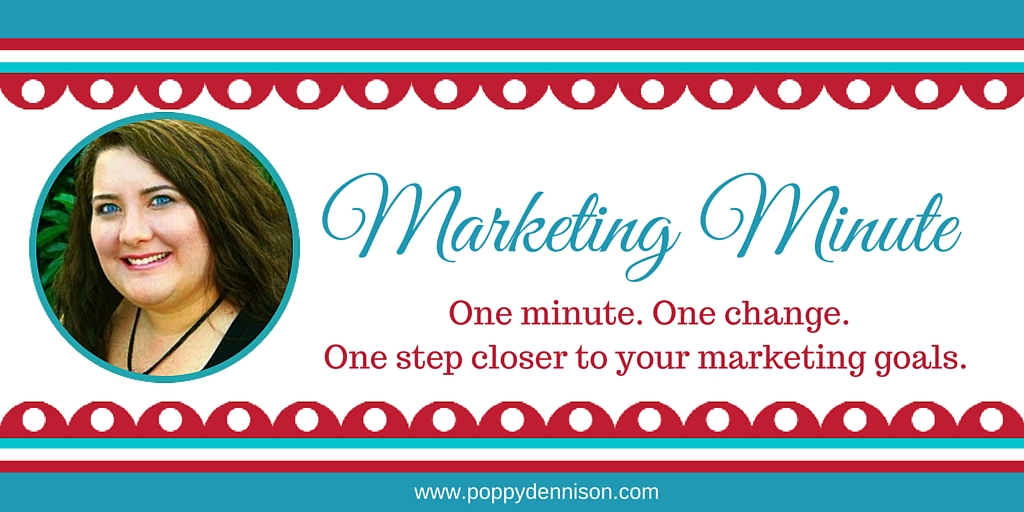 Poppy Dennison Marketing Minute
